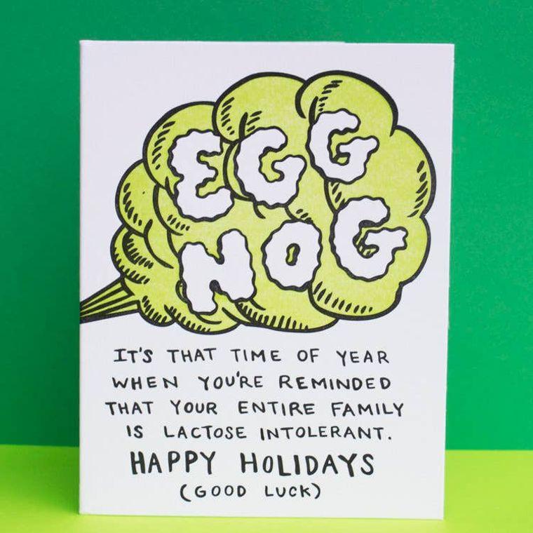 Egg Nog, Holiday Card
