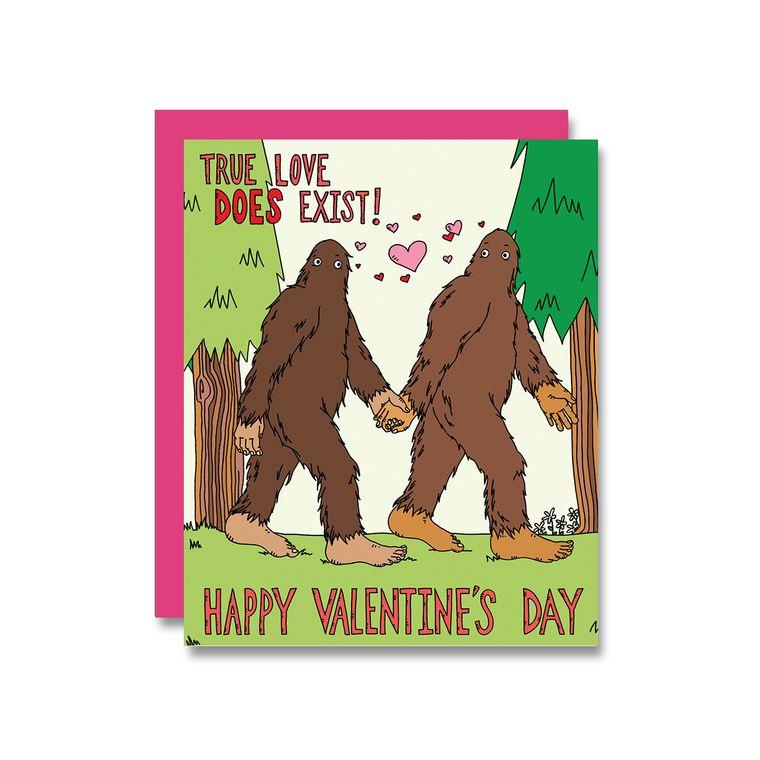 Bigfoot Valentine, Card