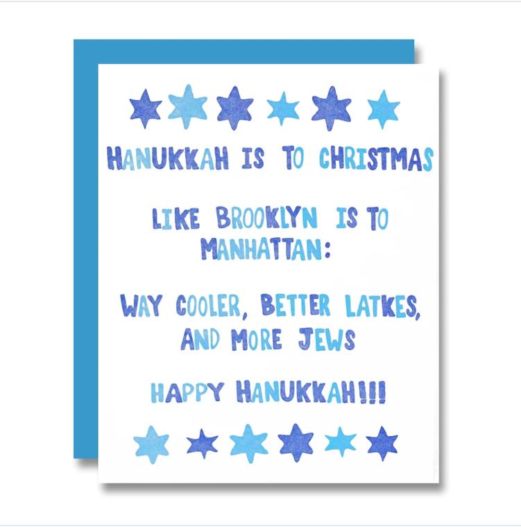 Hanukkah the Brooklyn Way, Holiday Card