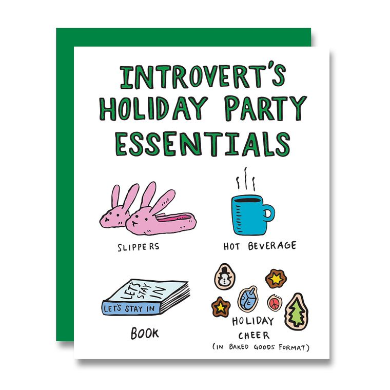 Introvert Holiday, Card
