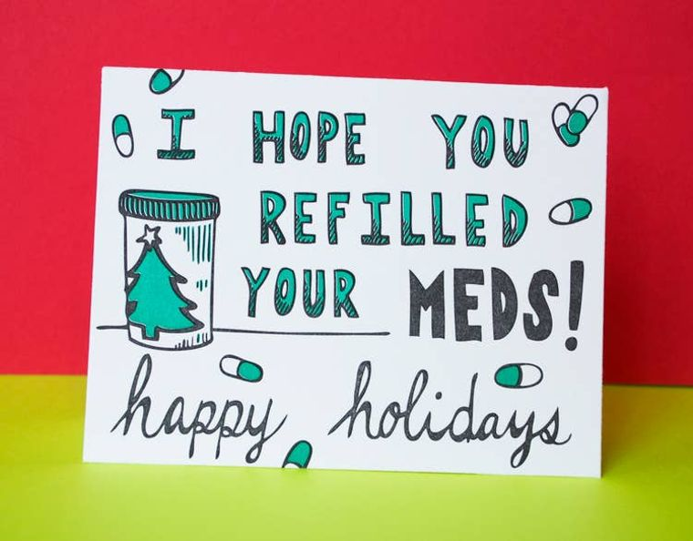 Medicated Holiday, Card