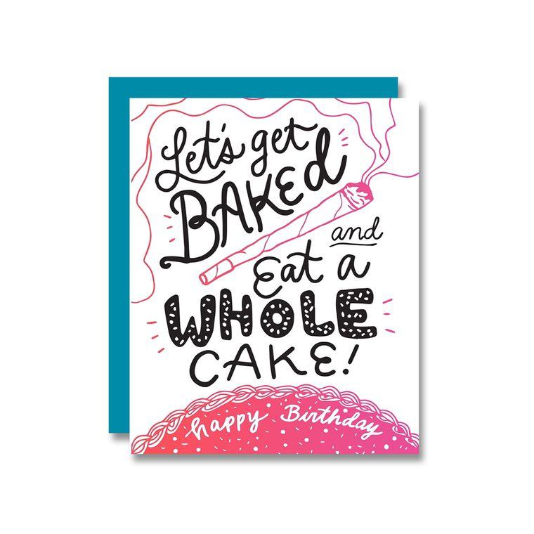 Baked Whole Cake, Birthday Card