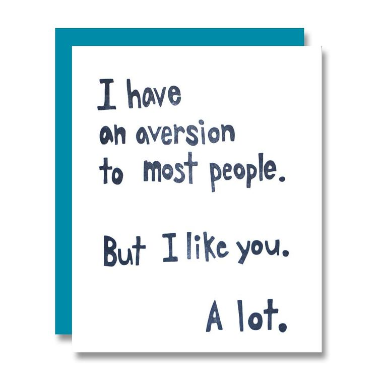 Aversion To Most, Card