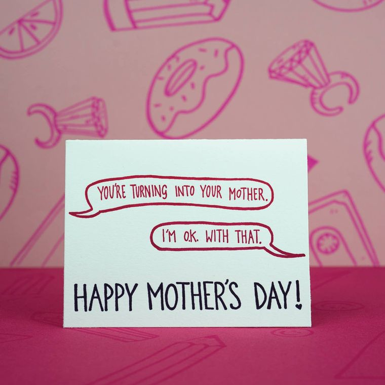 Turning Into Mum, Mother's Day Card
