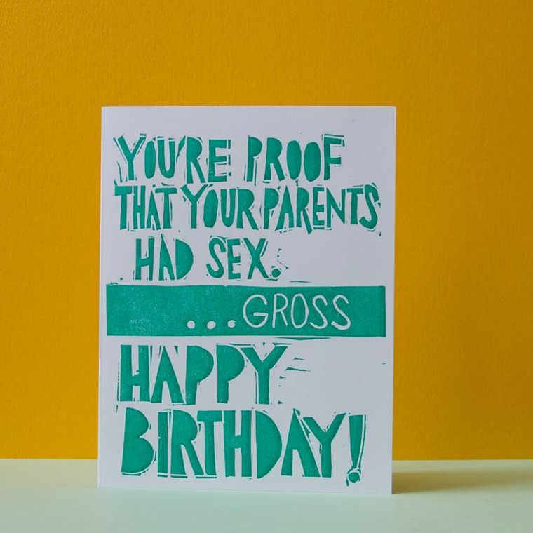 Gross Birthday, Card