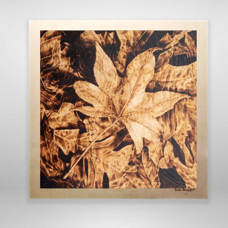 Autumn Rivulets (fall leaves, large)