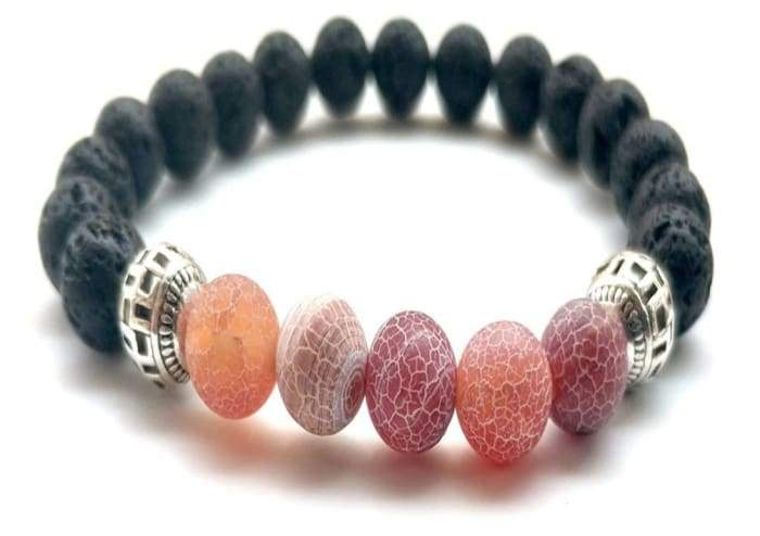 Red Lava Stone Essential Oil Bracelet