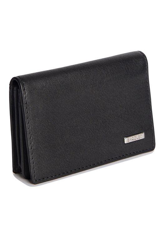 SADDLER Real Nappa Leather Business Card Wallet & Credit Card Holder - Black