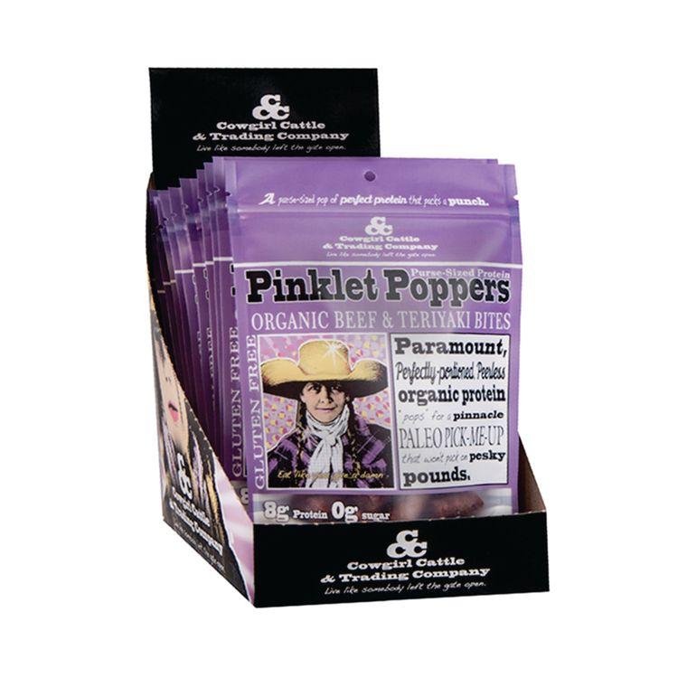 Pinklet Poppers Organic Beef & Teriyaki Bites