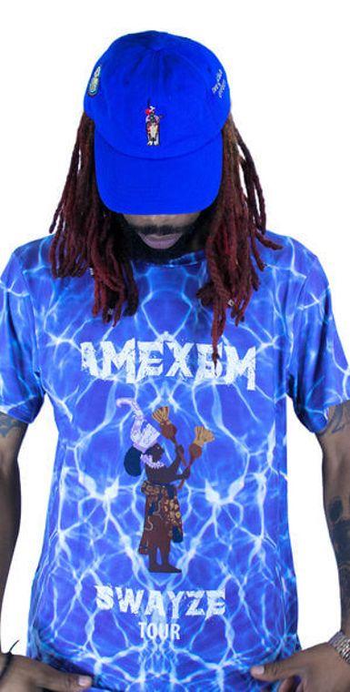 Amexem Swayze Tour Tee- Dark Azul