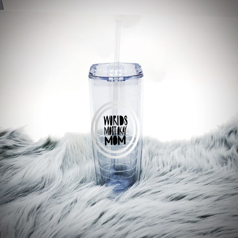 Worlds Most Okay Mom Insulated Water Bottle