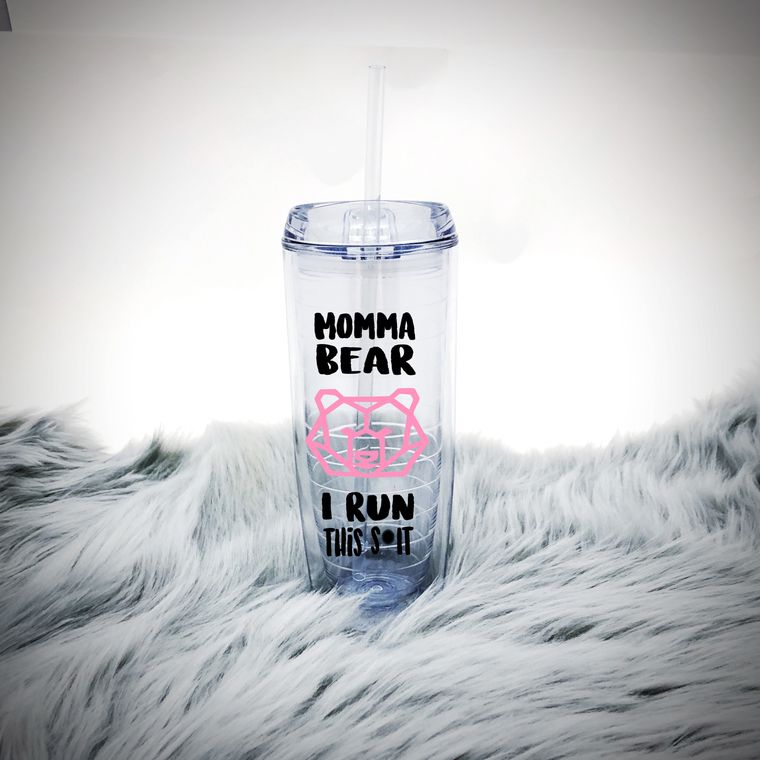 Momma Bear I Run This Shit Water Bottle