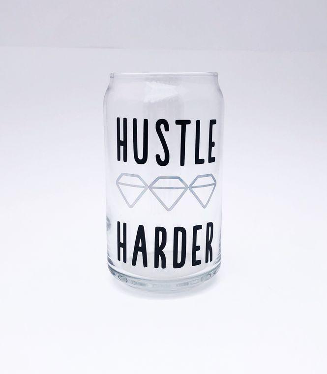 Beer glasses for boss babes, hustle harder.