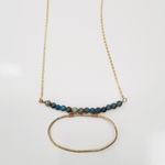 Bead Bar with Oval Long Necklace