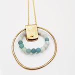Rivet Hoop Necklace