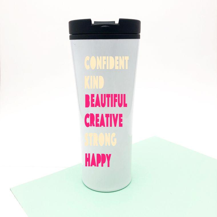 Inspirational Coffee Mug For Women. Confident Kind Coffee Mug.