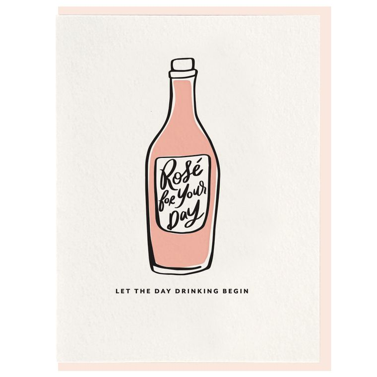 Day Drinking - Letterpress Card (Pre-order)
