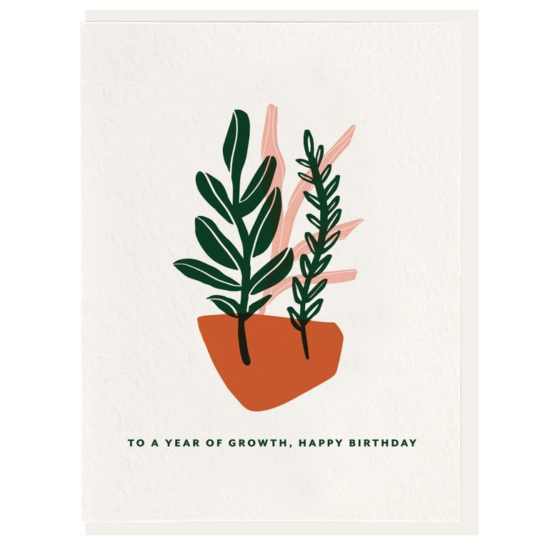 Year of Growth - Letterpress Card (Pre-order)