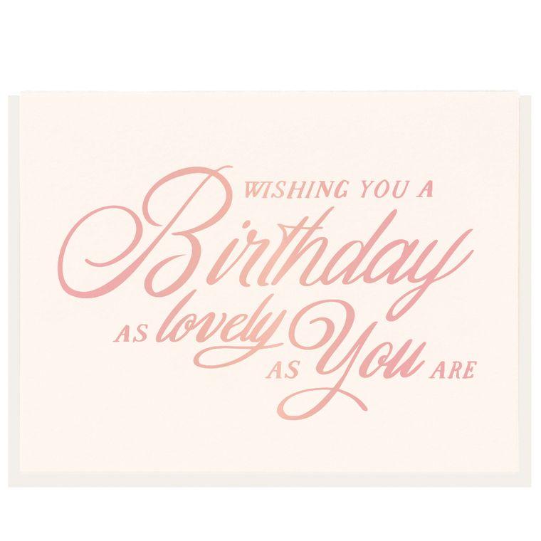 Lovely Birthday - Foil Card (Pre-order)