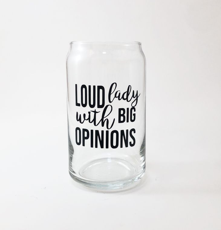 Loud lady with bit opinions beer glass