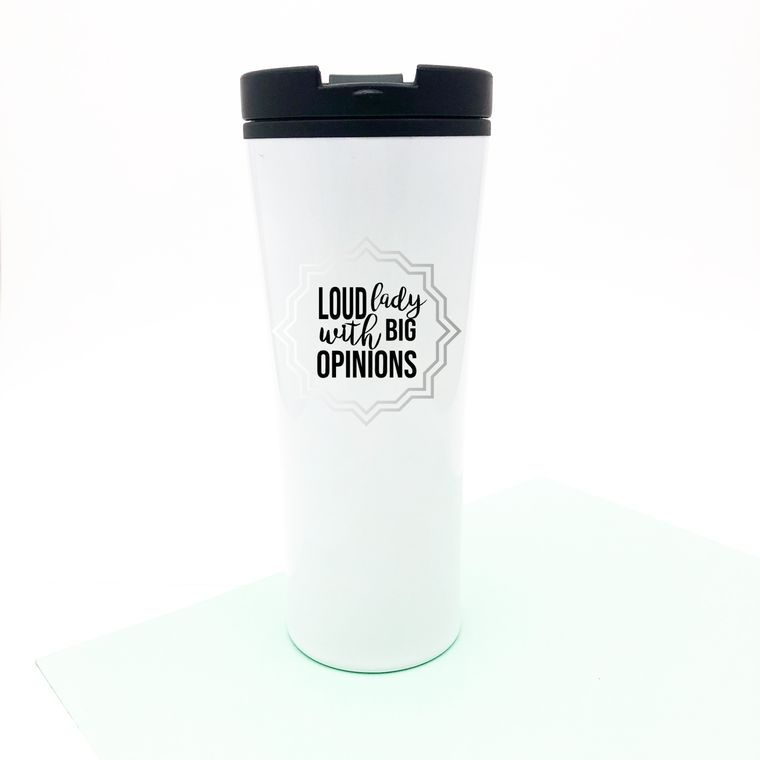 Loud Lady With Big Opinions Funny Coffee Mug For Bossy Women