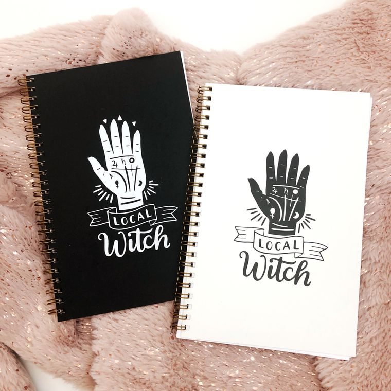 Local witch notebook for manifesting your dreams and writing spells.