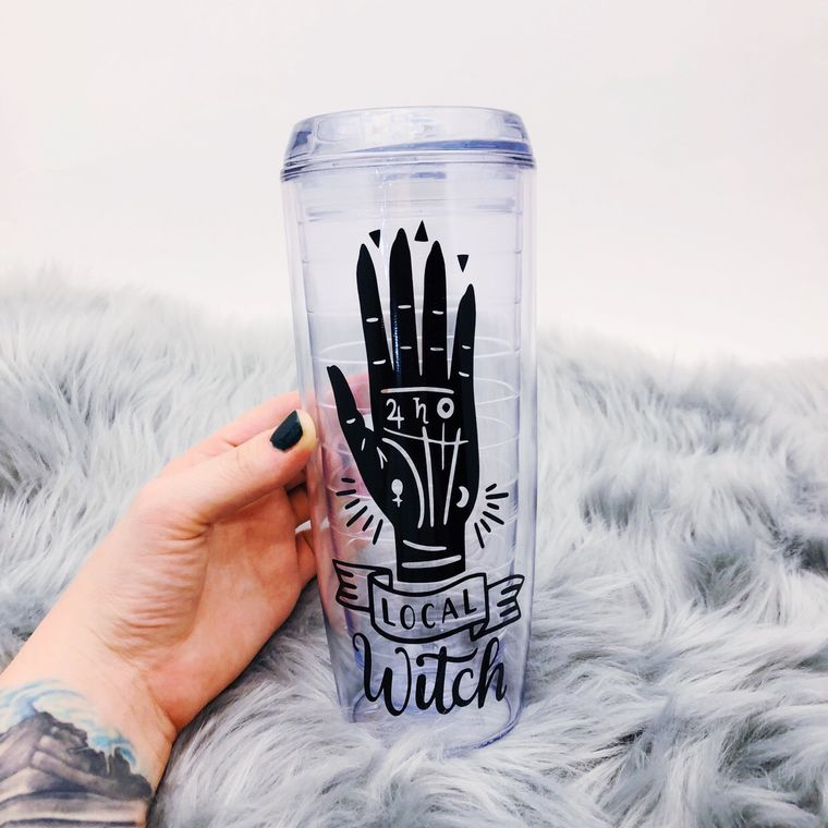 Local Witch Water Tumbler, Gifts For Witches.