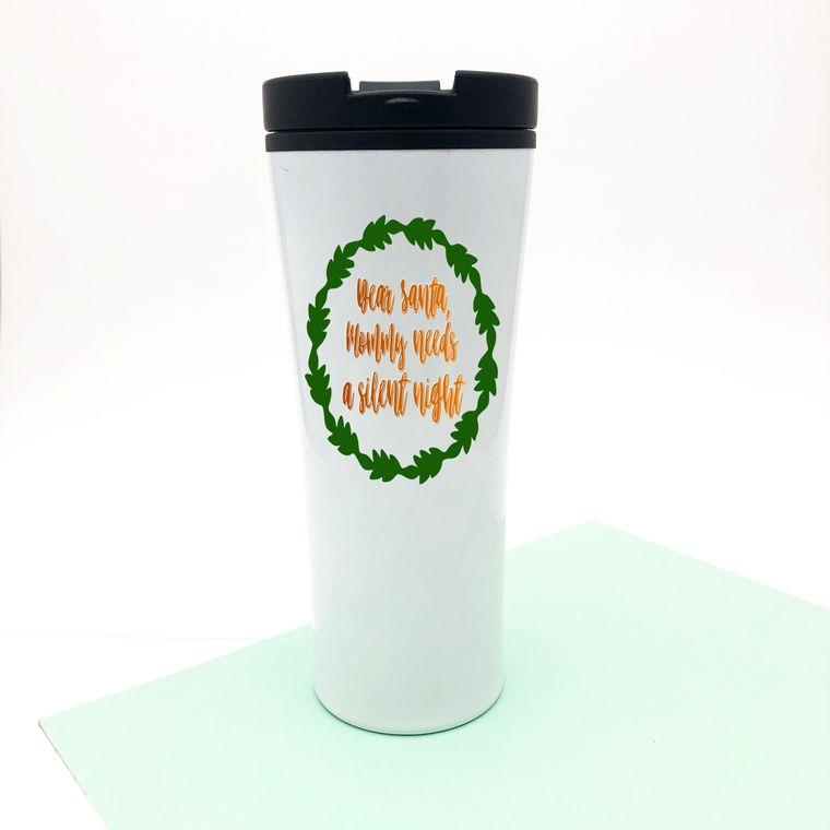 Mommy Needs A Silent Night. Christmas Coffee Mug.