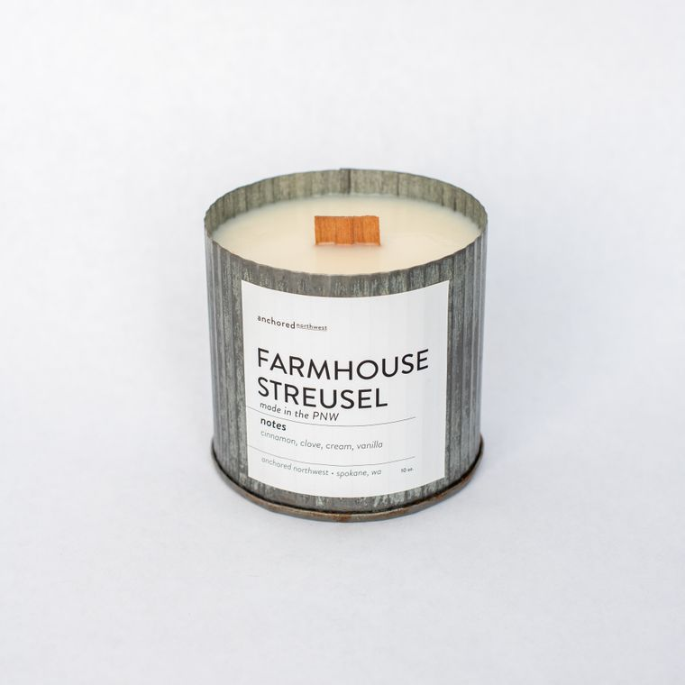 Farmhouse Streusel - Rustic Vintage Wood Wick Candle