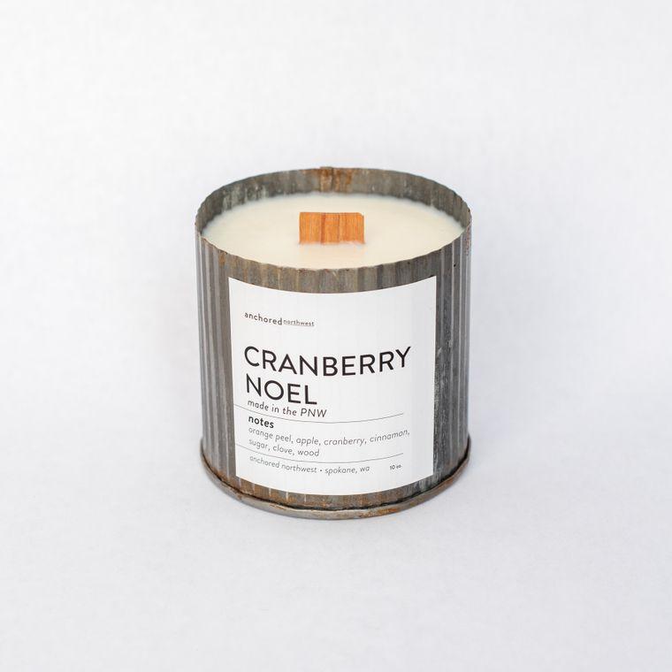 Cranberry Noel - Rustic Vintage Wood Wick Candle