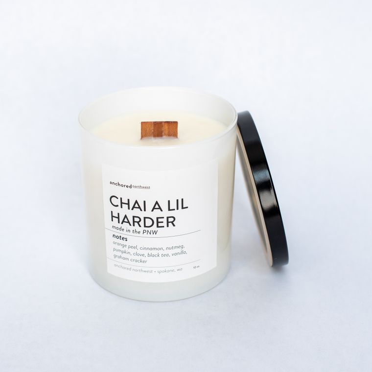 Chai a lil Harder - White Tumbler w/ lid