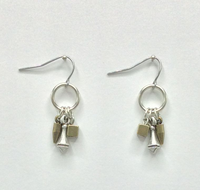 Geometric Mini Dangle Earrings