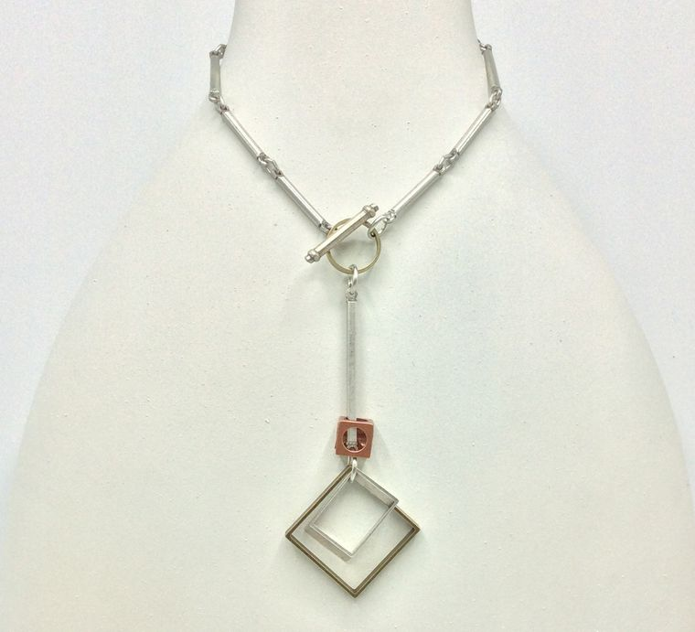 Geometric Toggle Necklace