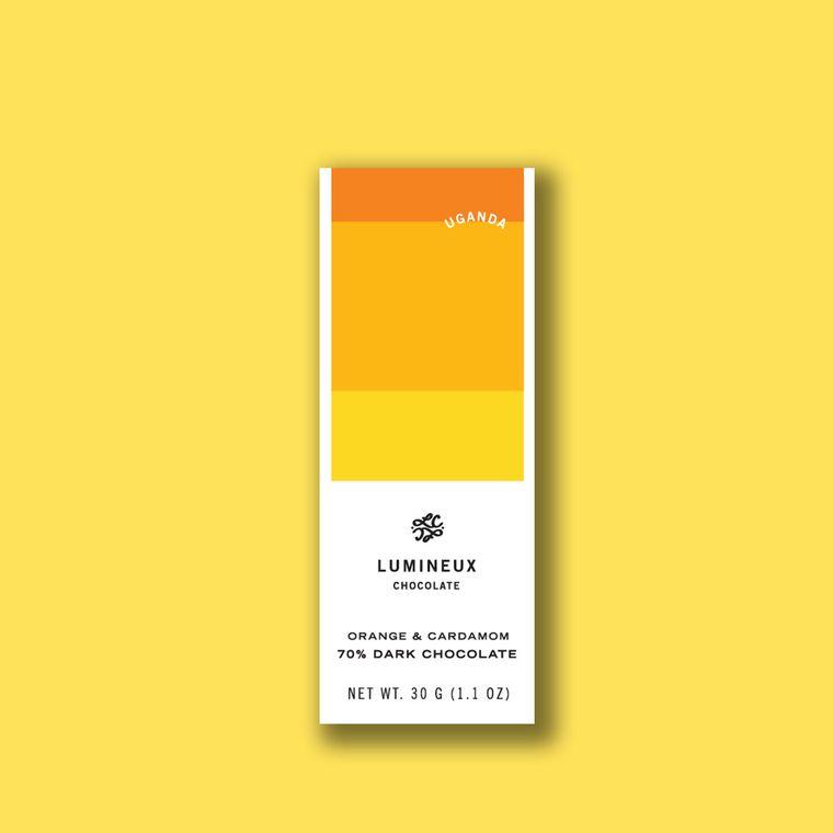 70% Uganda Orange & Cardamom Dark Chocolate Tasting Tablet
