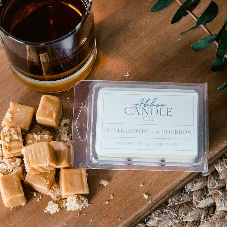 Butterscotch & Bourbon Soy Wax Melts by Abboo Candle Co
