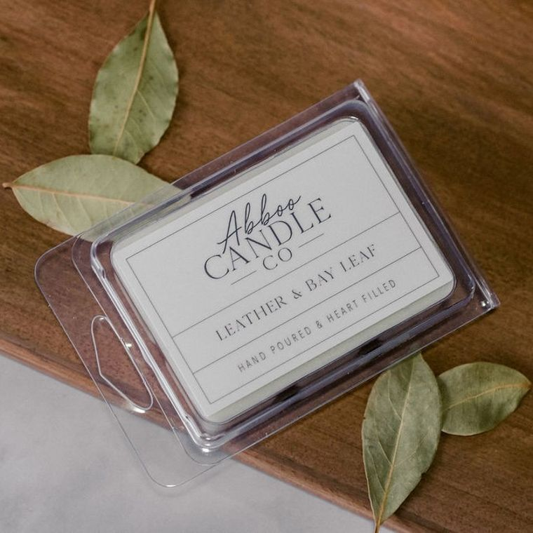 Leather & Bay Leaf Soy Wax Melts by Abboo Candle Co