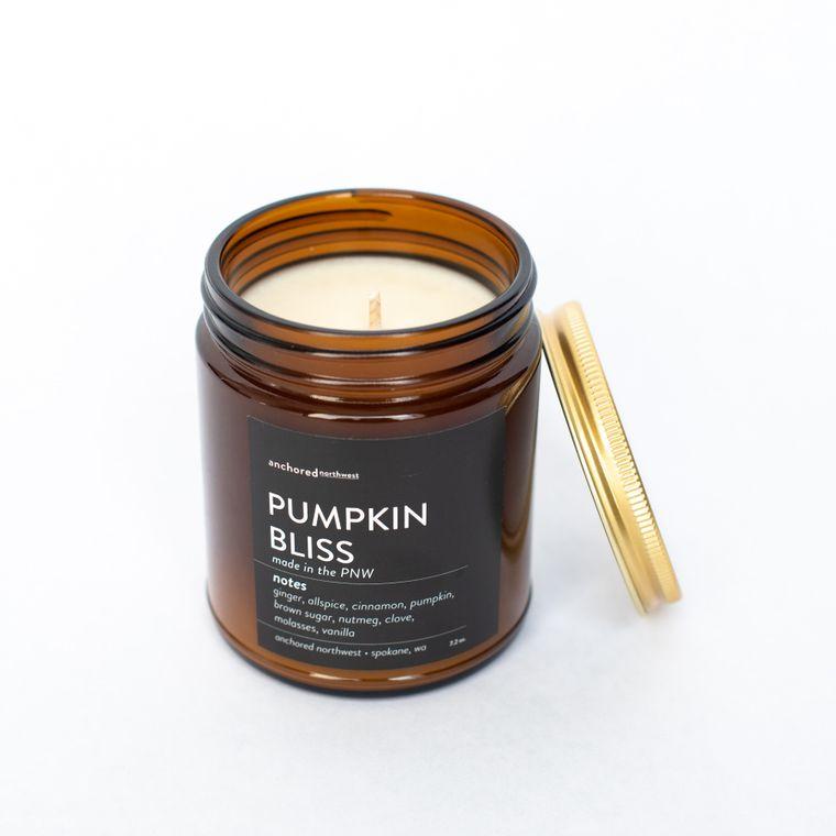 Pumpkin Bliss - Amber Jar w/ Cotton Wick