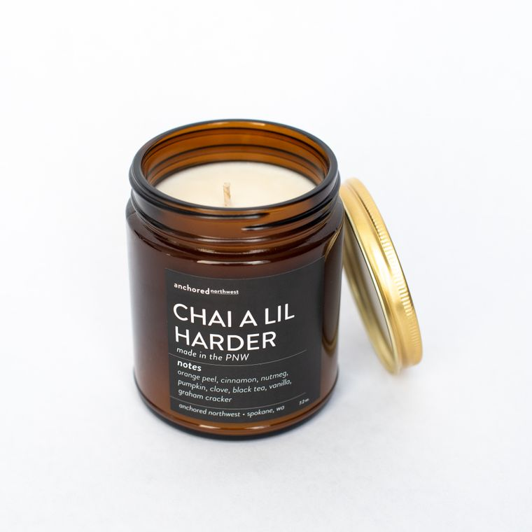 Chai a lil Harder - Amber Jar w/ Cotton Wick