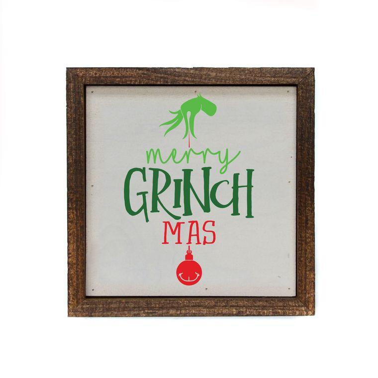 6x6 Merry Grinch Mas Box Sign