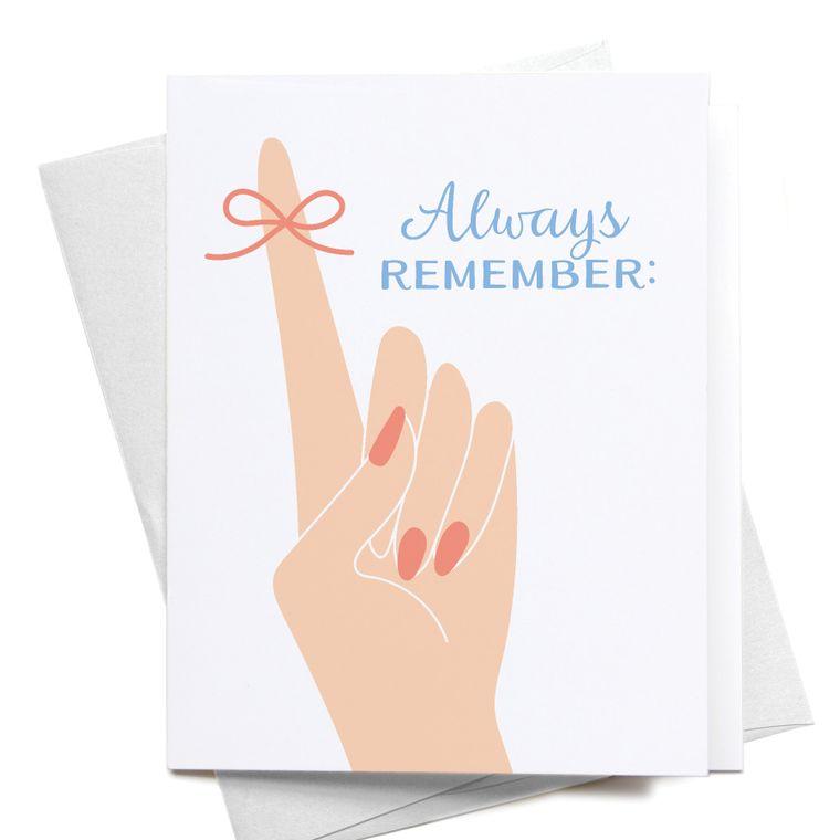 Always Remember Greeting Card