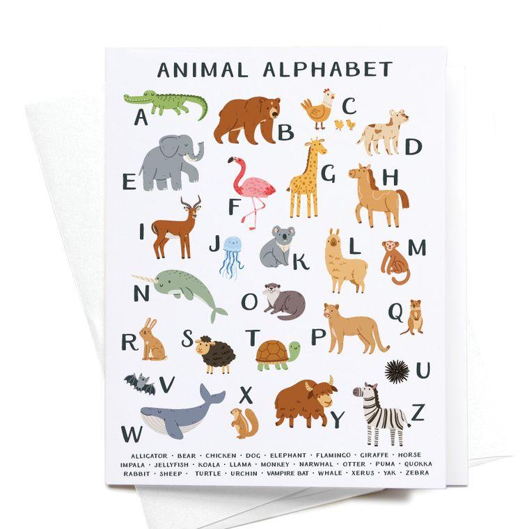 Animal Alphabet Greeting Card