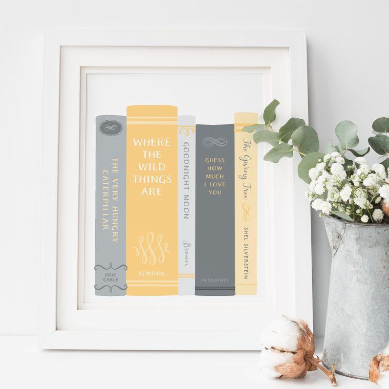 Baby Books Art Print