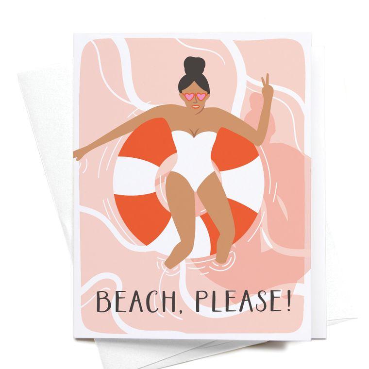 Beach, Please! Greeting Card
