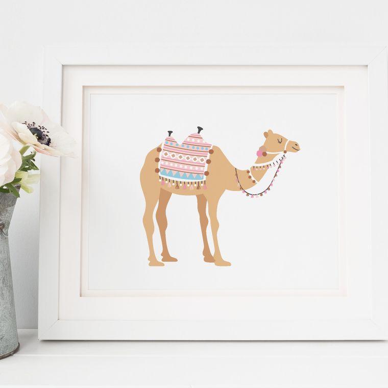 Boho Camel Art Print