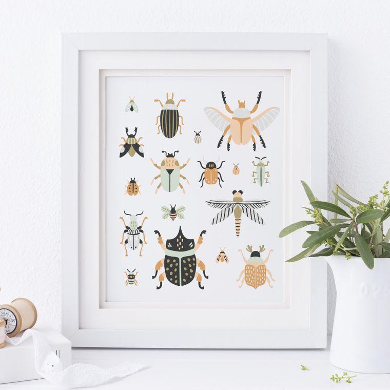 Bugs + Beetles Art Print