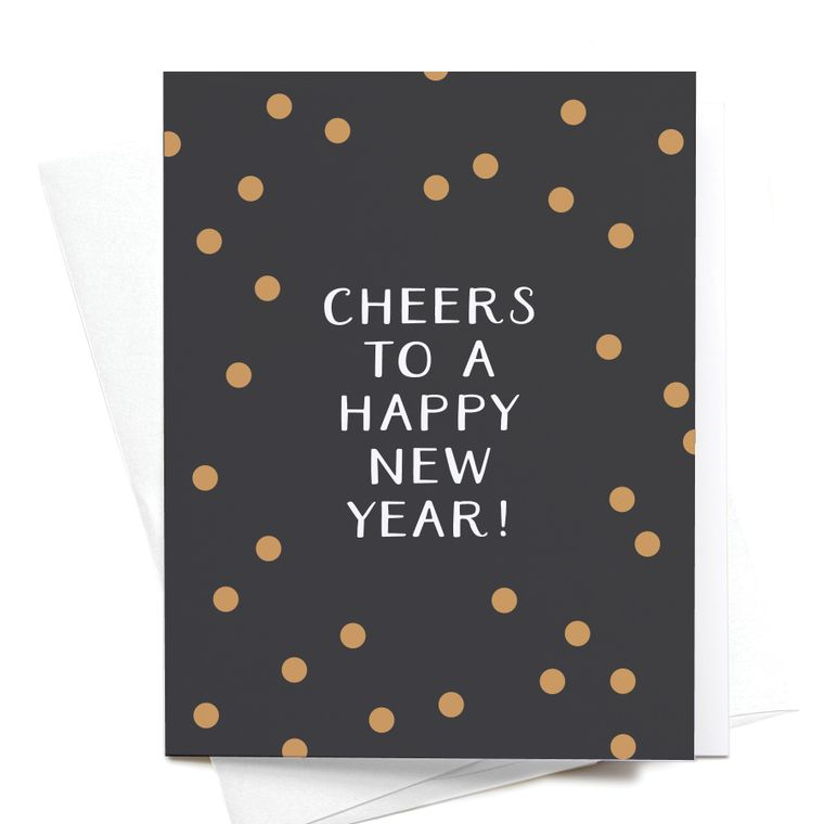 Cheers to a Happy New Year! Greeting Card
