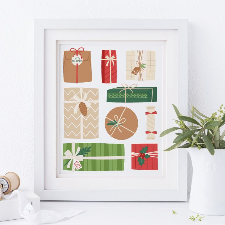 Christmas Gifts Art Print
