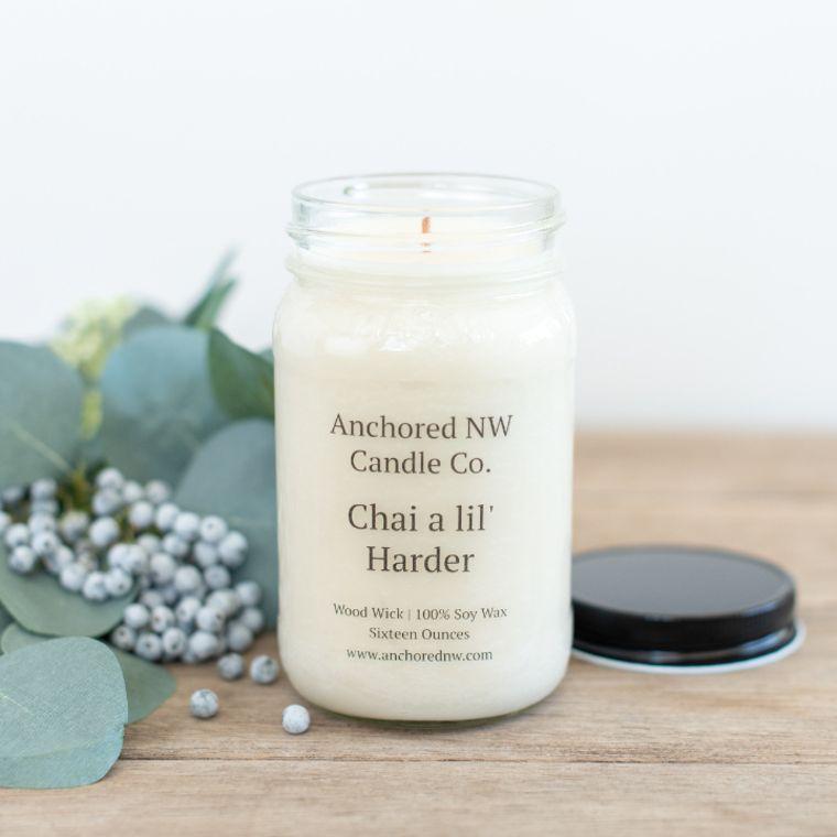 Mason Jar Soy Candle - Chai a lil' Harder (16 oz.)