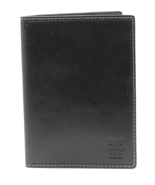 """CAPPIANO International Passport Holder and Credit Card Wallet - Vegetable Tanned Leather - 4 Card Slots - Deep 10.5cm Slip-in Pocket for Boarding Pass/Ticket Stubs - Embossed """"Cherub"""" Logo"""