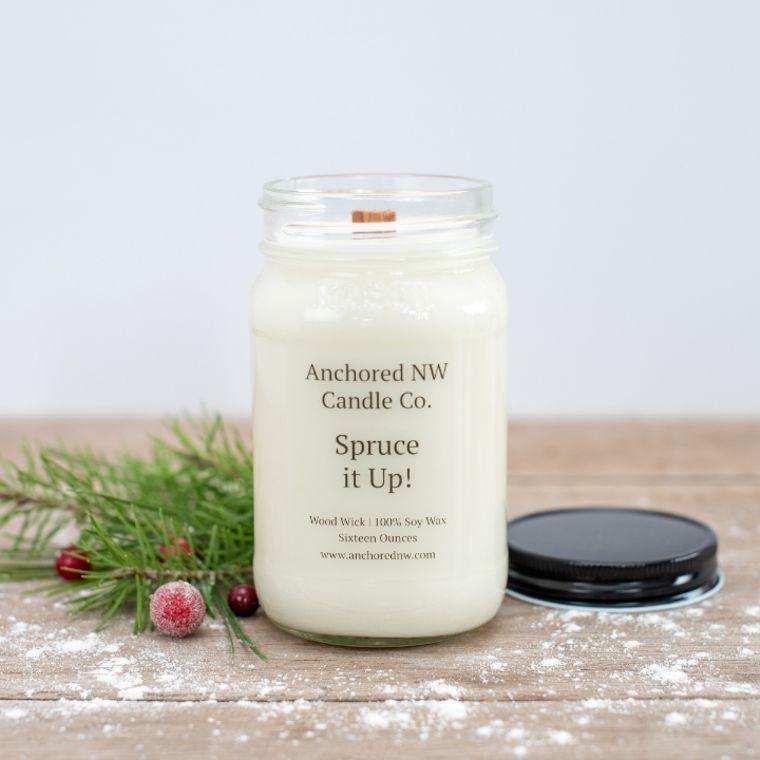 Mason Jar Soy Candle - Spruce it Up! (16 oz.)